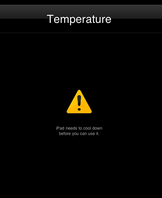 Ipad temperature screen traveler 2.0